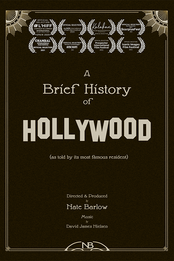 A Brief History of Hollywood Poster